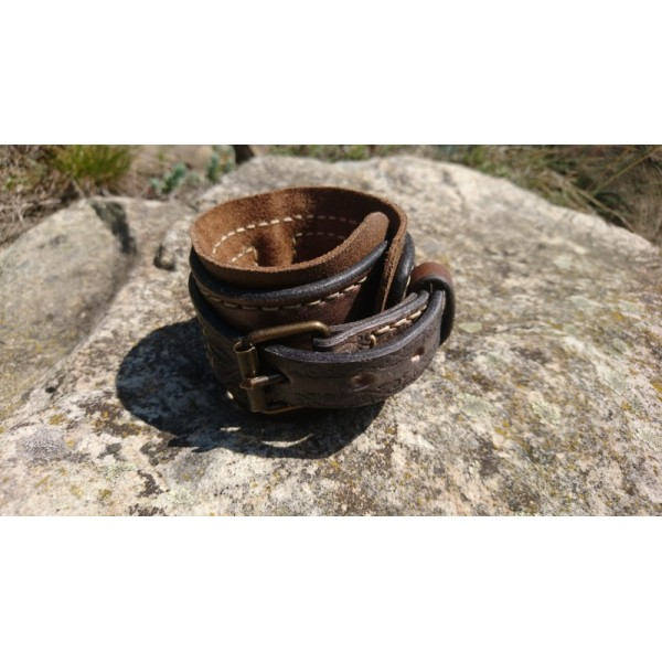 kožený náramok - zápästník